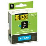 DYMO D1 Tape 24mm Black on Yellow