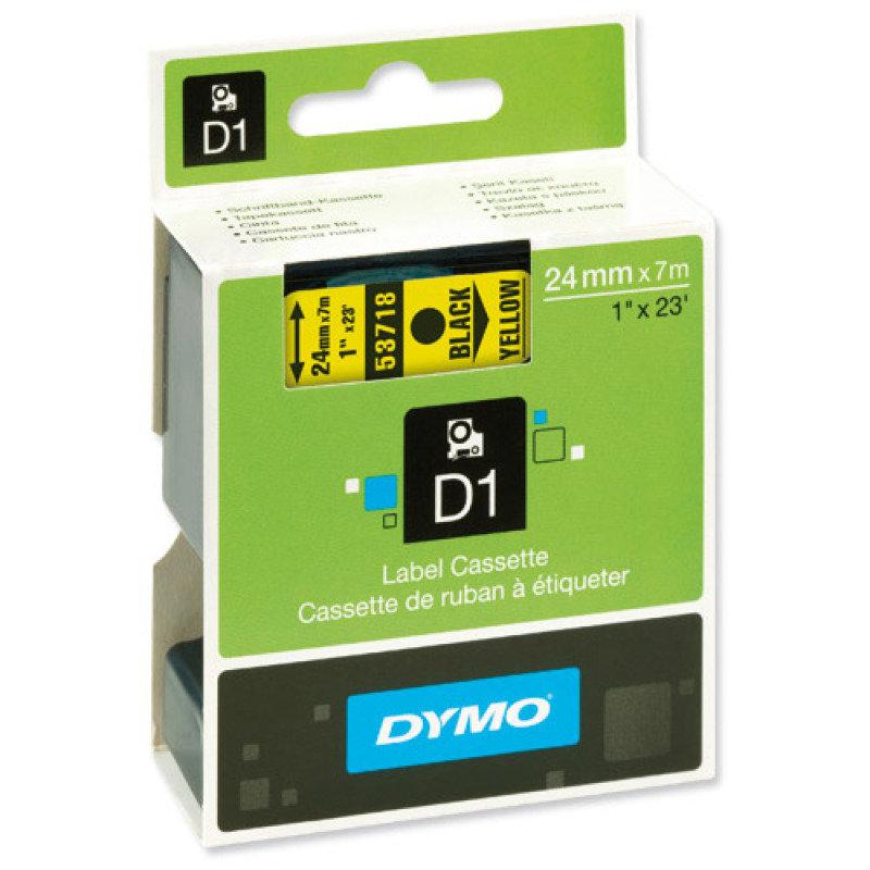 DYMO D1 Tape 24mm Black on Yellow