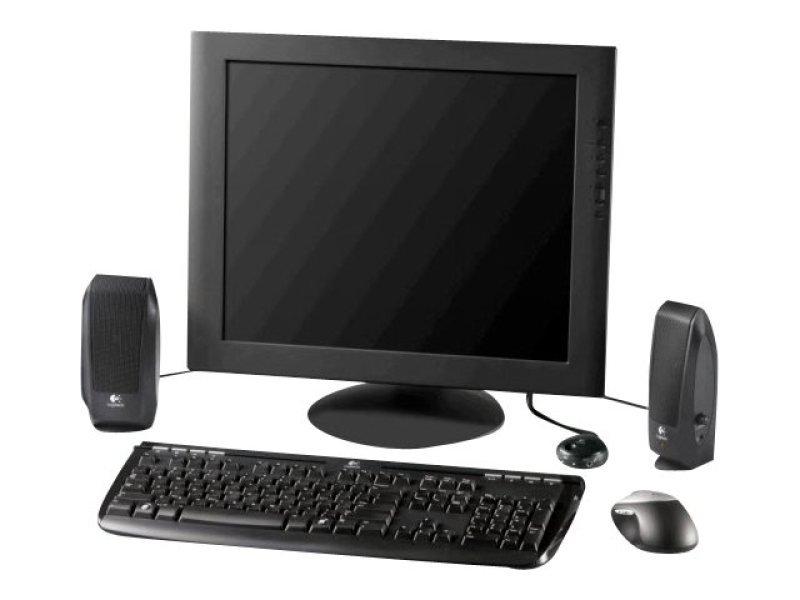 Logitech S120 Black 2.0 Speakers - 2.3W RMS