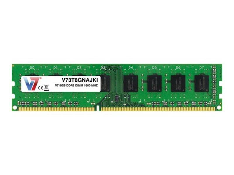 Image of V7 8GB DDR3 Dimm 1600mhz CL11 - Unbuff Non-ECC 240pin PC3-12800