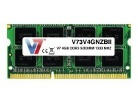 V7 4GB DDR3 SODIMM 1333MHz CL9 - Unbuff Non-ecc 204pin Pc3-10600