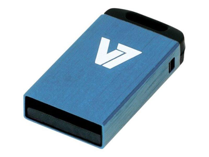 V7 32GB USB 2.0 Nano Flash Drive (Blue)