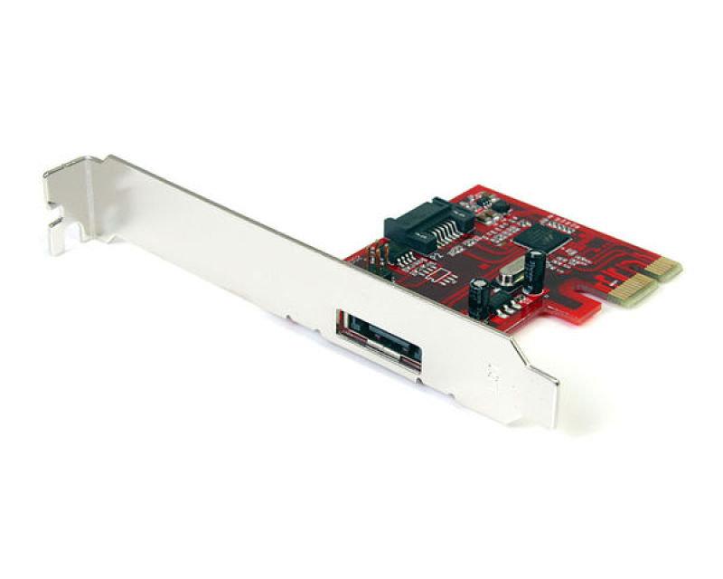 StarTech 1x eSATA 3 + 1x Internal SATA3 Controller Card - PCI Express