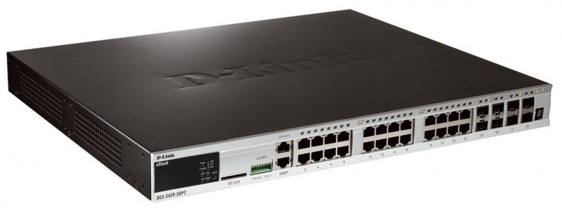 D-Link xStack DGS-3420-28PC 24 Port Managed Switch