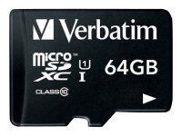 Verbatim Premium Class 10 UHS-I MicroSDXC Card 64GB With Adapter