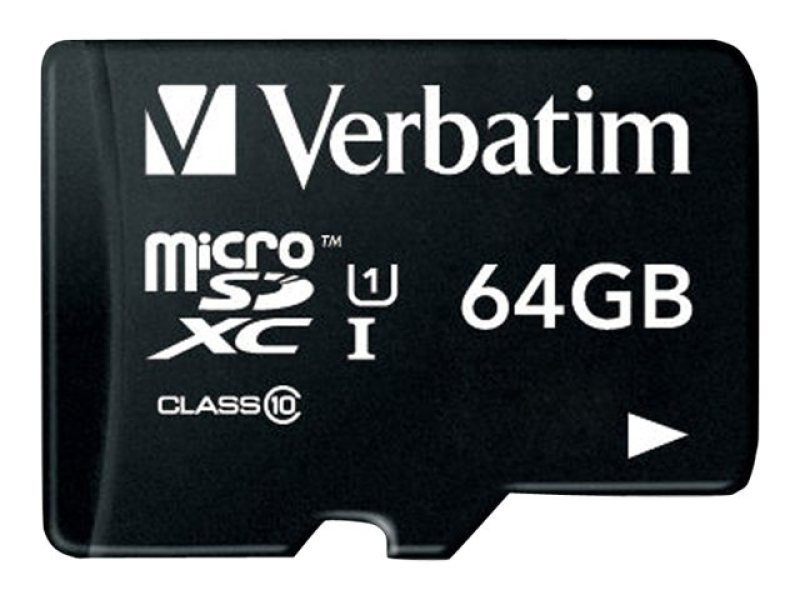 Verbatim Premium Class 10 UHS-I MicroSDXC Card 64GB With Adapter