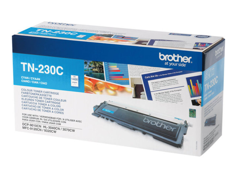 Brother TN-230C Cyan Toner Cartridge - 1,400 Pages