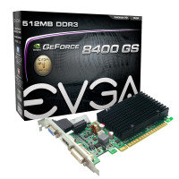 EVGA 8400GS 512MB 32bit DDR3 Passive DVI VGA HDMI PCI-E Graphics Card