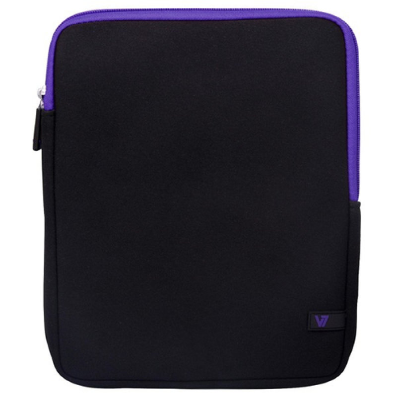 Image of V7 SLEEVE 10.1IN IPAD/2 TABLET - NEOPRENE 136G BLACK/PURPLE