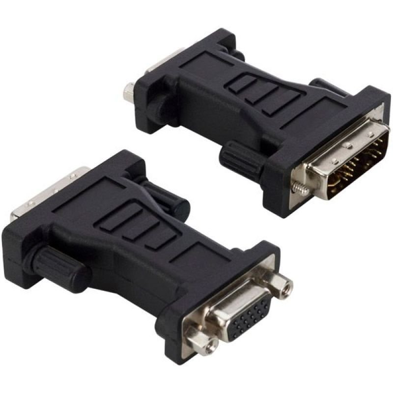 V7 ADAPTER VGA TO DVI-I BLACK - HDDB15/DVI-I DUAL LINK M/F