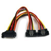 6in Latching Serial Ata Sata - Power Cable Splitter Adapter Uk