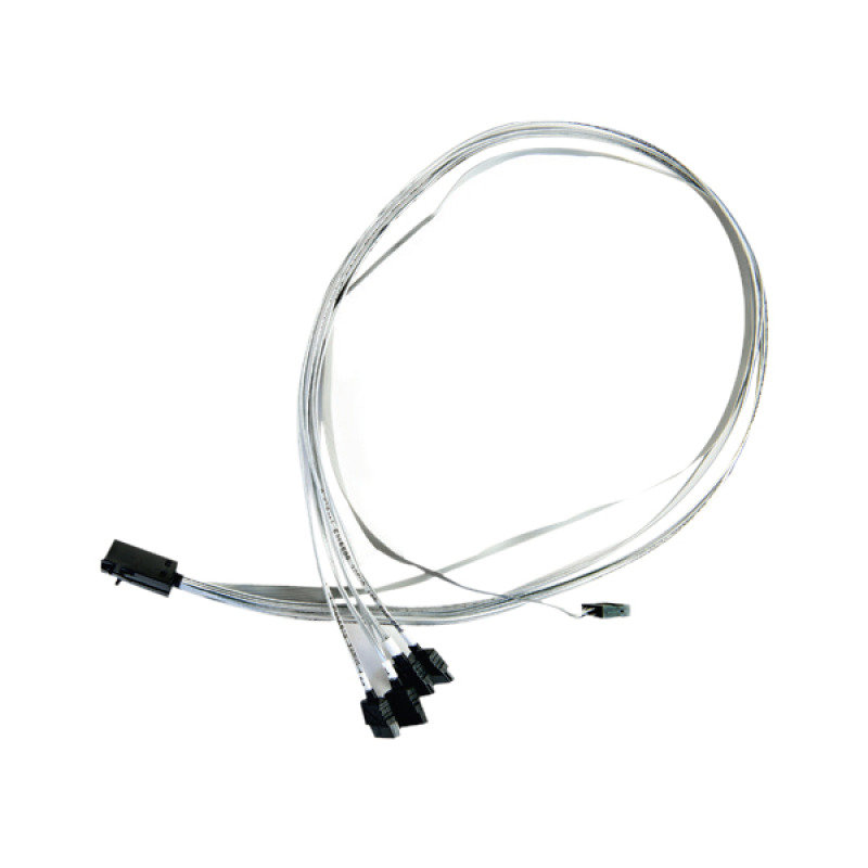 Adaptec - Serial Attached Scsi (sas) Internal Cable - With Sidebands - 4-lane - 36 Pin 4x Mini Sas Hd (sff-8643) - 7 Pin Serial Ata - 80 Cm.