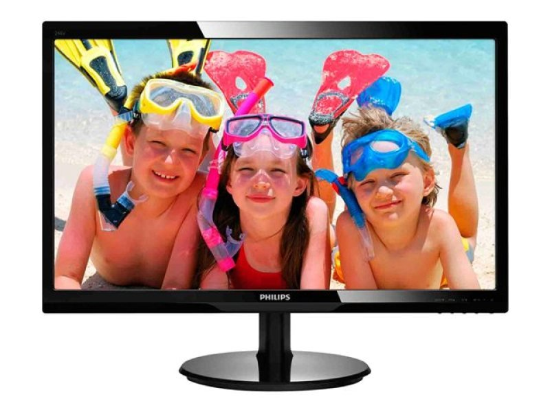 "Image of Philips24"" 246V5LSB LED 1920x1080 Full HD VGA DVI Monitor - Glossy Black"