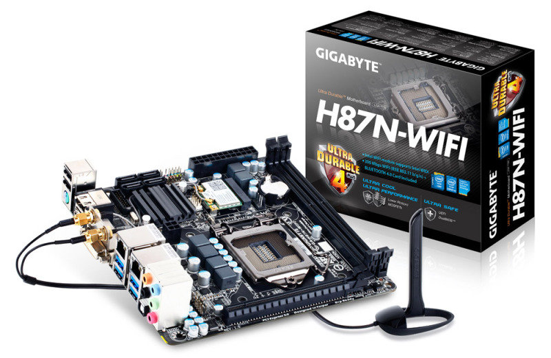Gigabyte GA-H87N-WIFI Socket 1150 7.1-channel Audio Mini-ITX Motherboard