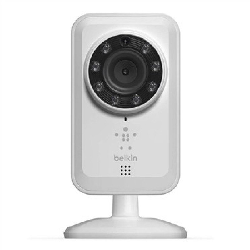 Belkin NetCam Wi-Fi Camera with Night Vision - Network camera - colour ( Day&Night ) - audio - wireless - 10/100, 802.11b, 802.11g, 802.11n