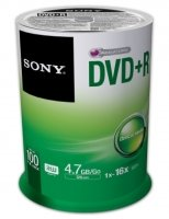 Sony 16x DVD+R 4.7GB 100 Pack Spindle
