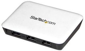 StarTech.com USB 3.0 to Gigabit Ethernet NIC Network Adapter with 3 Port Hub - White