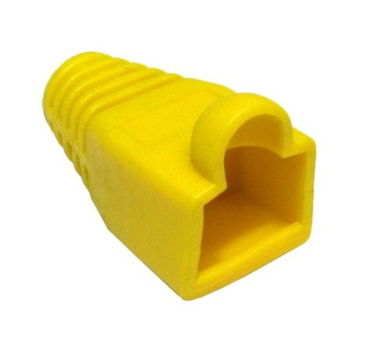 Image of 1M CAT 5 E MOULDED BOOT YELLOW