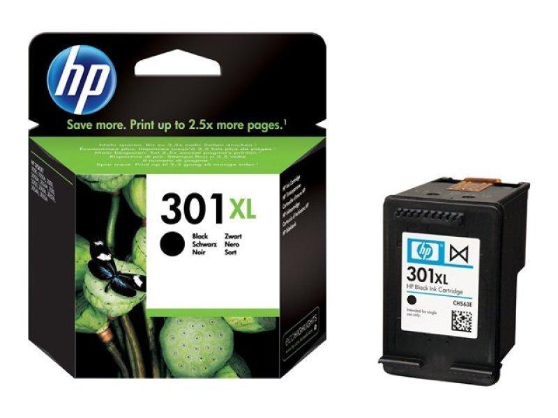 HP 301XL Black OriginalInk Cartridge - High Yield 480 Pages - CH563EE