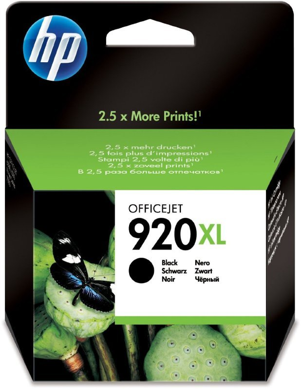 HP 920XL Black Ink Cartridge - CD975AE