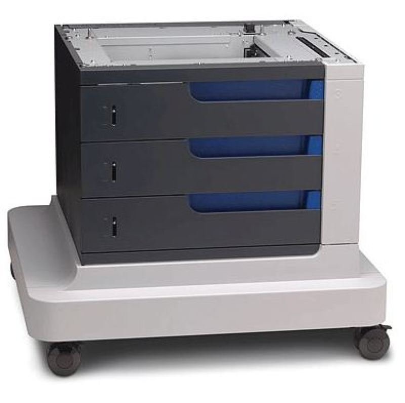 Image of HP Printer base with media feeder - 3x 500 pages