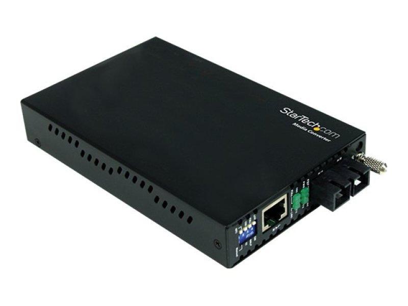 Startech Gigabit Ethernet Single Mode Fiber Media Converter Sc 40 Km - 1000 Mbps