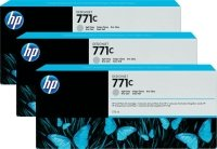 HP 771C 775-ml Light Gray Ink Cart 3Pk