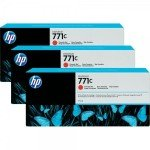 HP 711C Chromatic Red	Original, Multi-pack Ink Cartridge - Standard Yield	3 x 775ml - B6Y32A