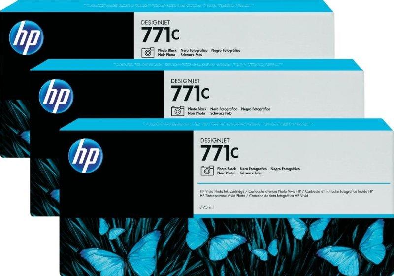 HP 711CPhoto Black Original, Multi-packInk Cartridge - Standard Yield 3 x 775ml - B6Y37A