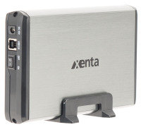 Xenta 3.5'' USB3.0 SATA HDD Enclosure Silver and Black