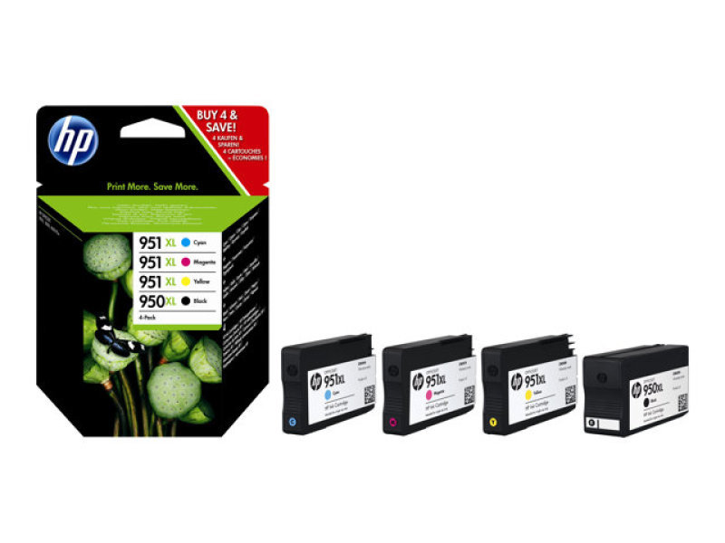 HP 950xl/951xl Combo Pack Ink Cartridges - C2P43AE