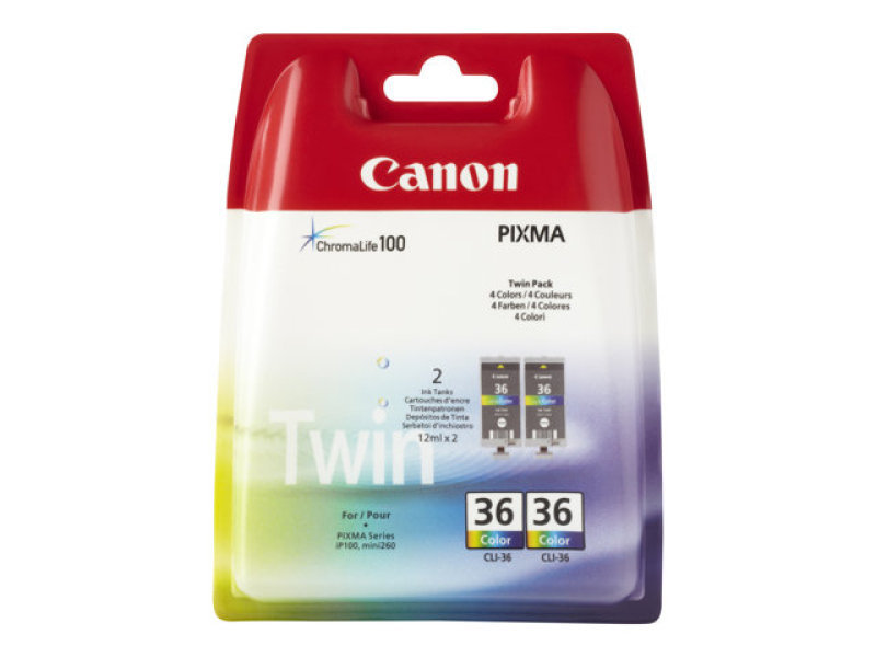 Canon CLI 36 Colour Twin Pack  Ink Cartridges