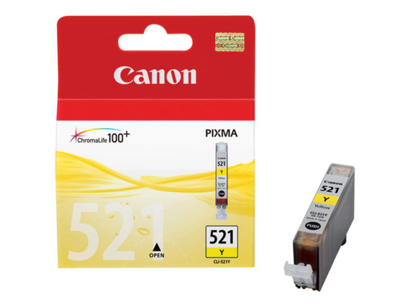 Canon CLI 521Y Yellow Ink Cartridge - 446 Pages