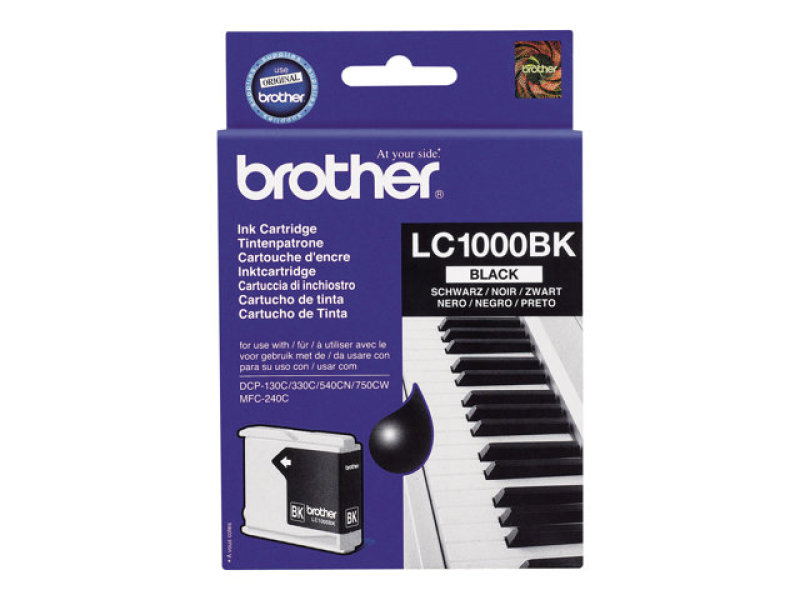 Brother LC1000BK Black Ink Cartridges - 2 Pack
