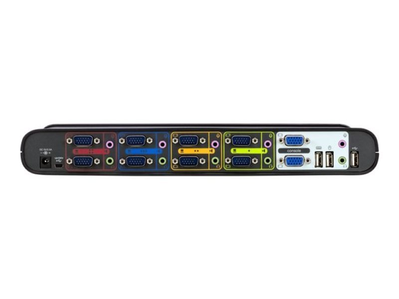 Belkin F1DH104Lea OmniView Soho Series 4-Port USB Dual Headed KVM Switch, with Cables