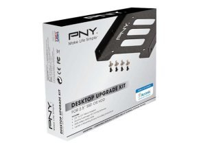 PNY SSD Accessories 3,5 '' to 2,5'' bay, includes screws and screwdrivers SATA III data cable & Acronis clone software - P-72002535-M-KIT