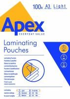 Fellowes Apex A3 Light Duty Laminating Pouch - 100 Pack