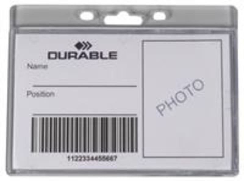 Durable Enclosed Proximity Card Holder Landscape 50 Pack