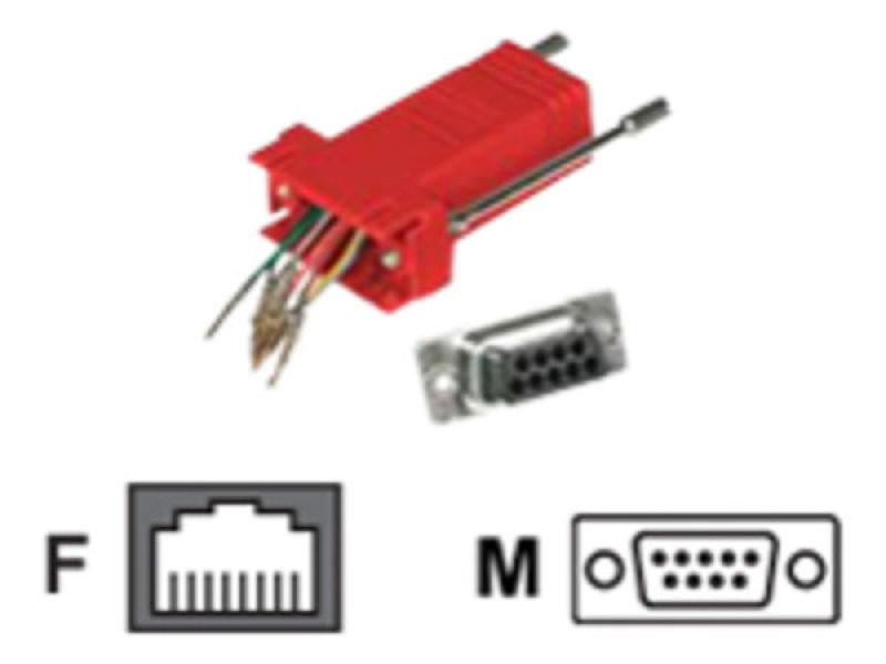 C2G, RJ45/DB9M Modular Adapter Red