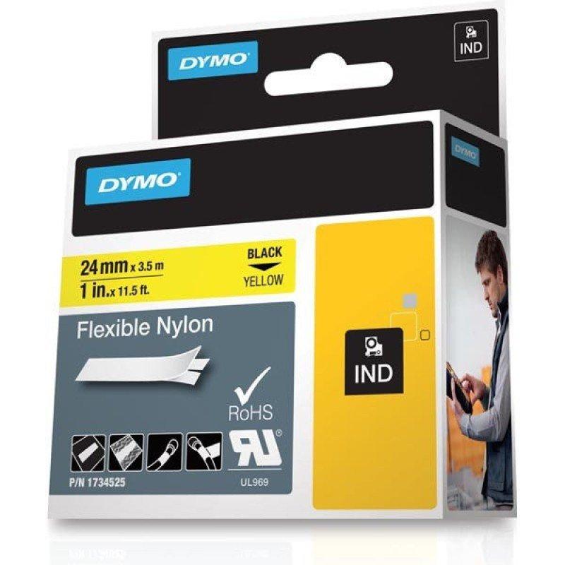 Image of 24 Mm Flexible Nylon Label Yell - Rhino Band Id1 Nylon