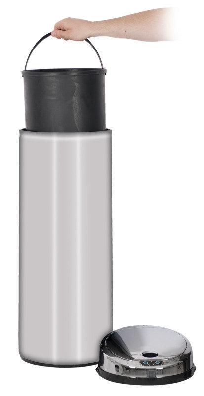 EXDISPLAY Vida Chrome Fnish Sensor Bin 50 Litre