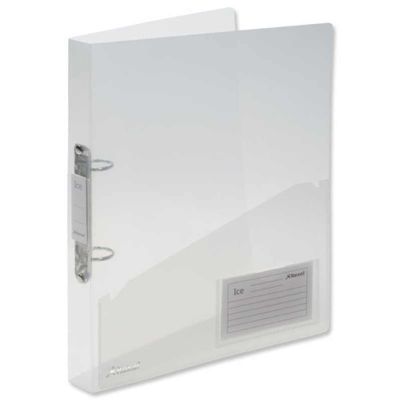 Rexel Ice A4 2 O-Ring Binder 30mm Spine Clear - (Pack of 10)
