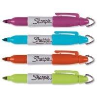 Sharpie Mini Permanent Marker Portable Fine Assorted Berry Orange Lime Turquoise Ref S0811260 [wallet 4]