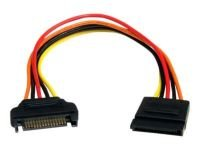 StarTech 15 pin SATA Power Extension Cable - 20.3cm