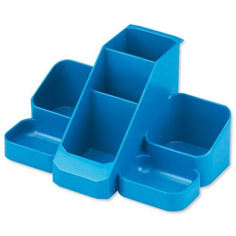 Avery Standard Range Desk Tidy (Blue) with 7 Compartments