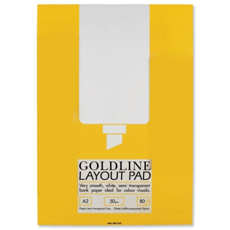 Goldline Gpl1a2 Layout Pad Bank Paper 50gsm 80 Pages A2