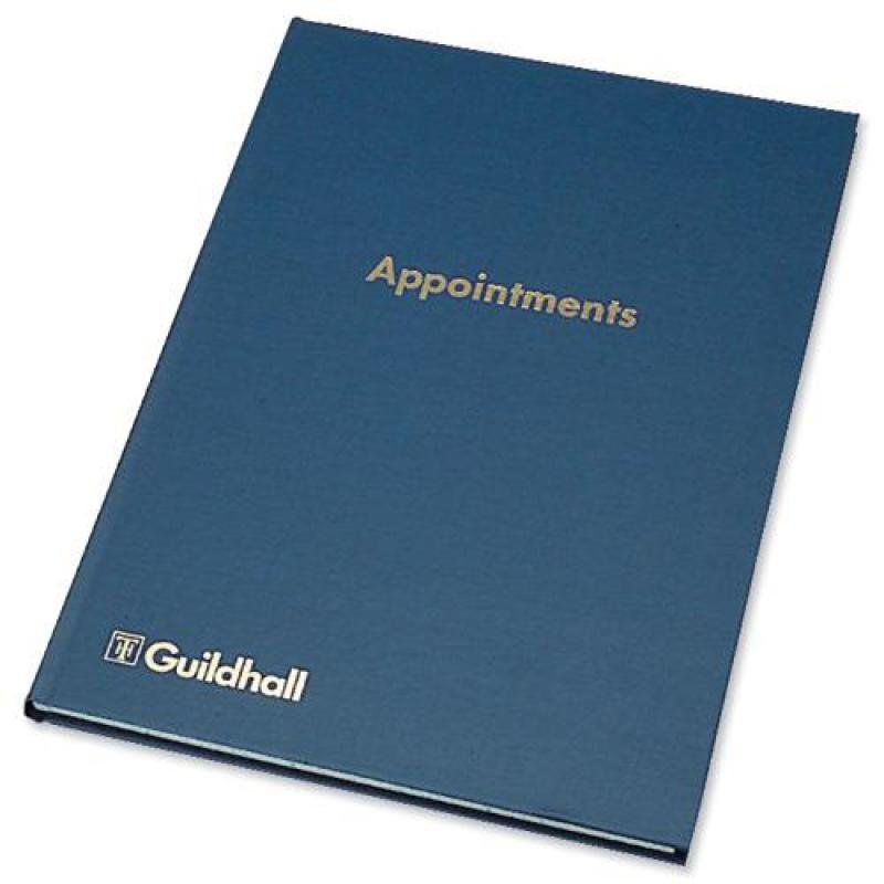 Image of Guildhall (298 x 203mm) Appointments Book 104 Pages Blue