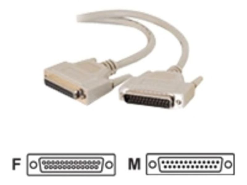 C2G, IEEE-1284 DB25 M/F Parallel Printer Extension Cable, 2m