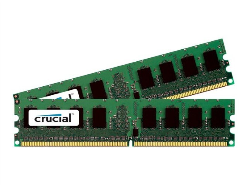 Crucial CT2KIT25664AA1067  4GB kit (2GBx2) DDR2 PC2-8500 Unbuffered NON-ECC 1.8V 256Meg x 64