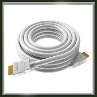 VISION TECHCONNECT V2 SPARE 15M HDMI CABLE Flexible High-Speed White Cable with Ethernet. Compact connector. Thin 9.5mm Diameter. 24 AWG conductors (note: smaller number = more copper). Tested to Category 2.